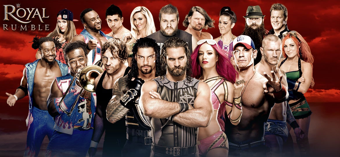WWE 2017 ROYAL RUMBLE Alamodome